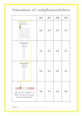 MArbetsschema 3