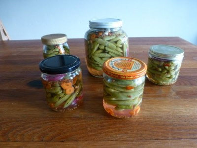 pickled sugar snaps