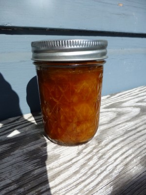Rainier cherry jam with Patak's hot lime relish