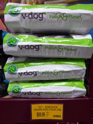 Vegan dog food at Rainbow Grocery