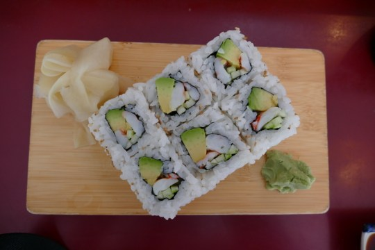 New York roll at Sushi Zone