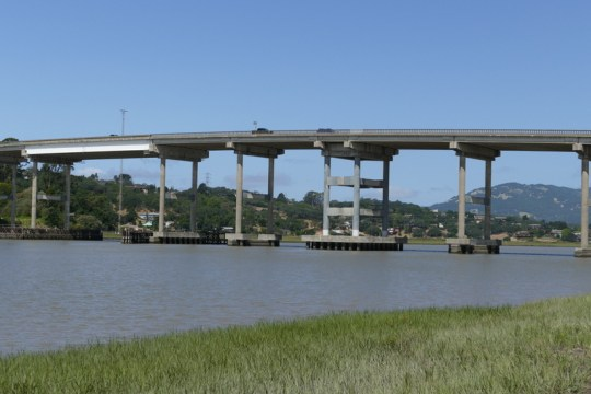 CA-37 bridge over the Petaluma
