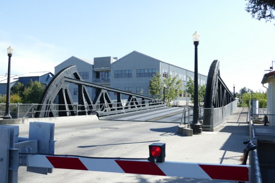 D Street drawbridge opening