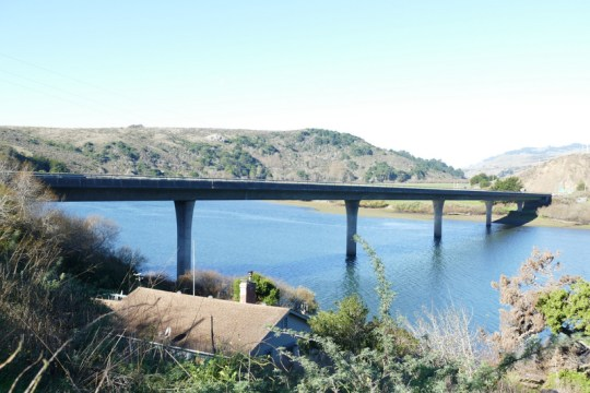 Russian River bridge CA-1 at the mouth of the river