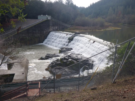 Cape Horn Dam on the Eel River