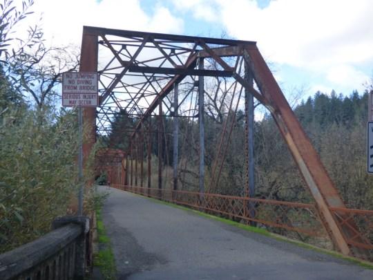 Russian River bridge on Wohler Road