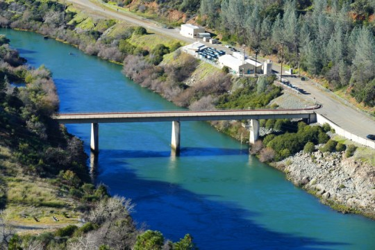 bridge below Shasta Dam