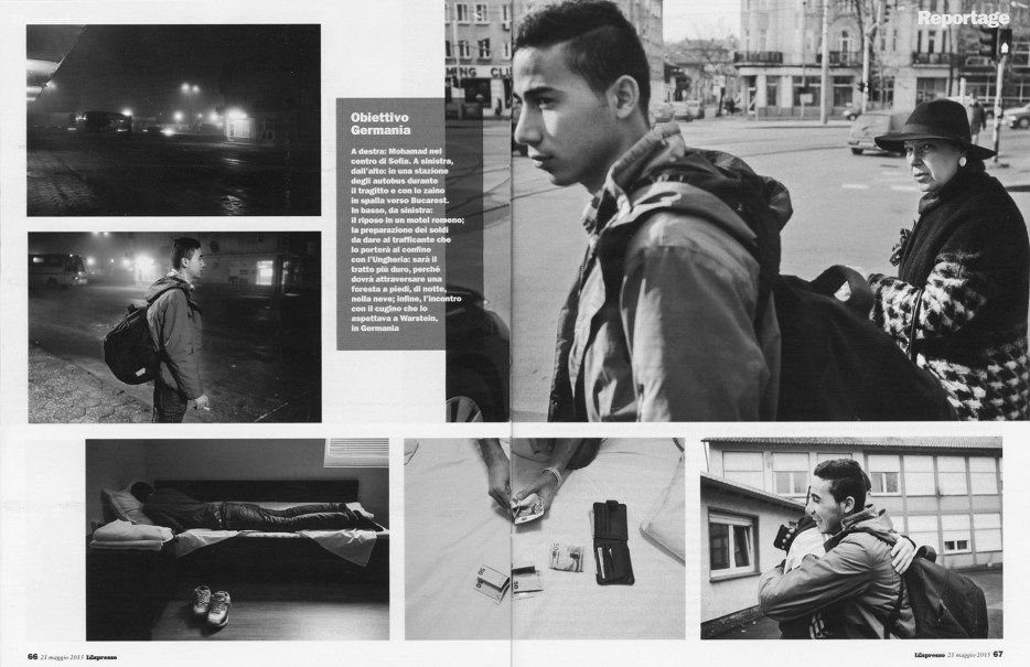 "May 2015 - ""Souls of Syrians"" published in L'Espresso magazine"