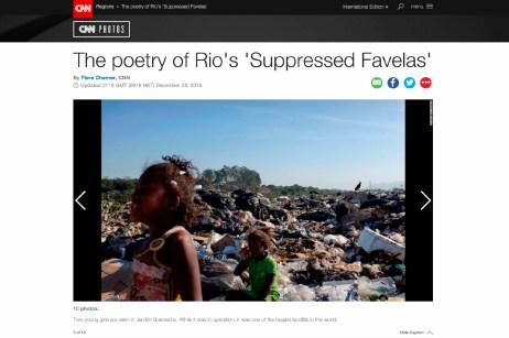 "December 2015 - ""Suppressed favelas"" published in CNN Photos."