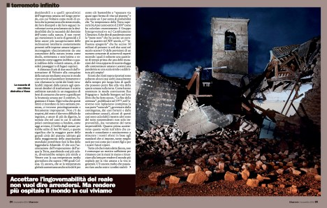 """November 2016 - Two of my pictures from the series """"Maiora premunt"""" published in L'Espresso magazine."""