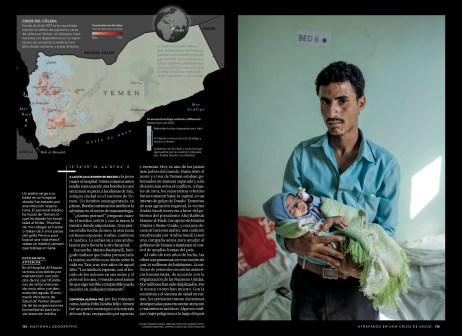 August 2018 - My Yemen project published in the August 2018 issue of National Geographic Mexico, with an article written by Nina Strochlic.