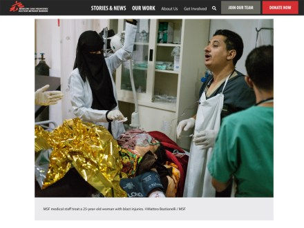 January 2019- Pictures and videos realized on assignment for Doctors Without Borders/Médecins Sans Frontières in Yemen, published in their latest articles and campaigns on the web.
