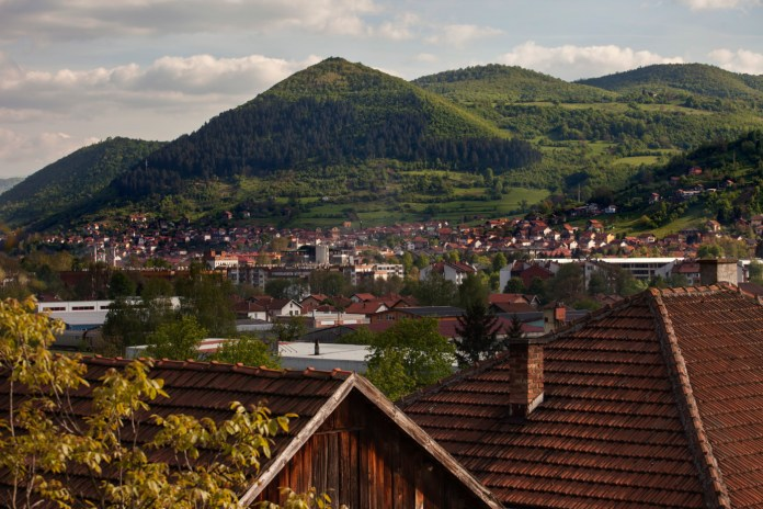 """A view of the """"pyramid of the Sun"""". Visoko, Bosnia and Herzegovina, 2014. © Matteo Bastianelli for Discovery Communications"""