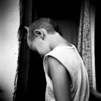 A child, born after the war, with psychological problems. Cerska, Serb Republic of Bosnia and Herzegovina, 2009. © Matteo Bastianelli