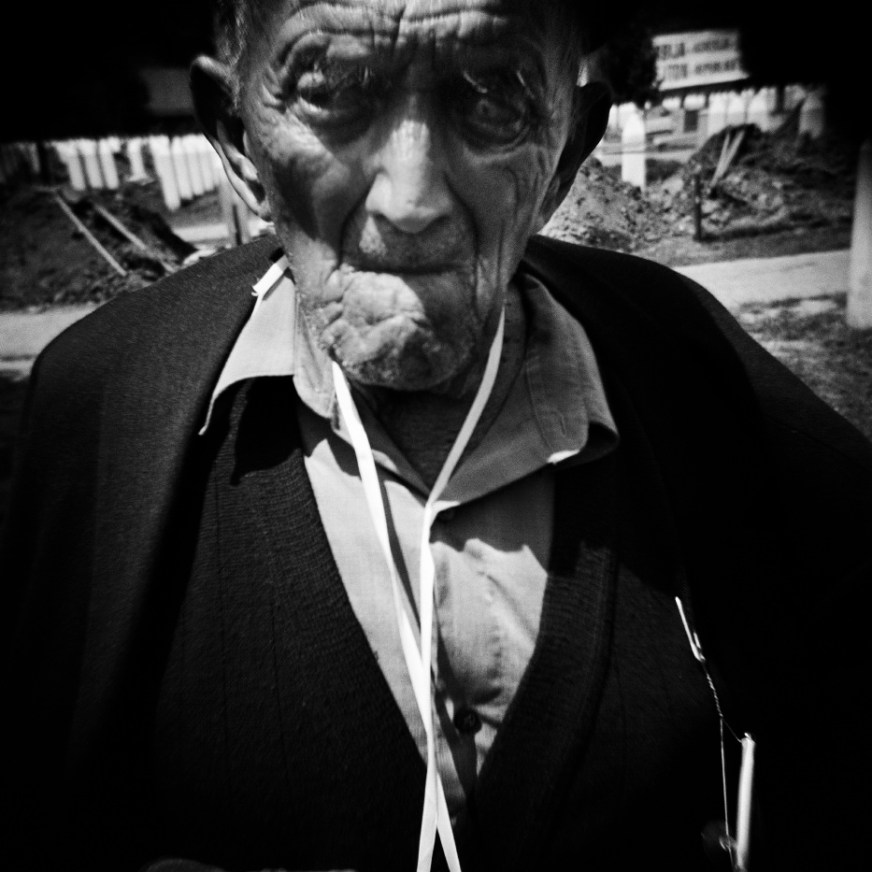 One of the oldest survivors of the genocide perpetrated by the Serbian-Bosnian army. Potočari, Serb Republic of Bosnia and Herzegovina, 2010. © Matteo Bastianelli