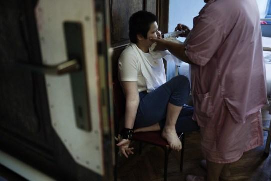 A nurse with a patient in the Gornja Bistra Children Hospital. Gornja Bistra, Croatia 2009. © Matteo Bastianelli