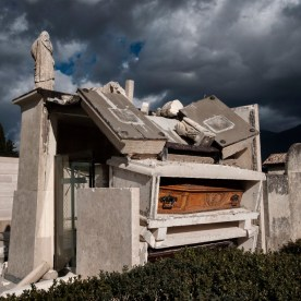 The cemetery in Norcia badly damaged by the earthquake. Norcia, Italy 2016. © Matteo Bastianelli