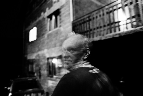 Alia Bostandja, Nihad's father, in front of his house. Sarajevo, Bosnia and Herzegovina, 2011. © Matteo Bastianelli