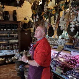 Mr. Ansuini at his own pork butchery. Norcia, Italy 2016. © Matteo Bastianelli