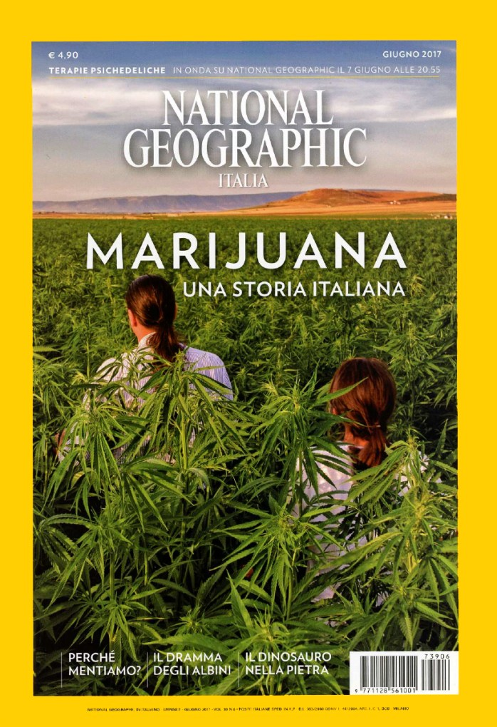 "June 2017 - My long-term project ""Green Gold"" published as cover story of June's issue of National Geographic Italy."