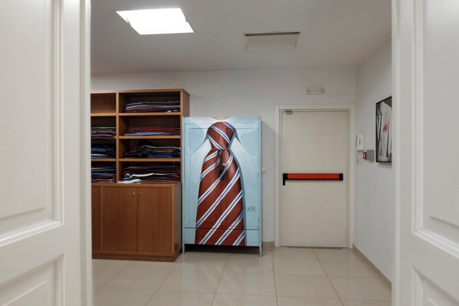 "The entrance to the E. Marinella sartorial workshop, where ""veracious Neapolitan and at the same time very British"" ties have been exported all over the world since 1914. Naples, Italy 2017. © Matteo Bastianelli"