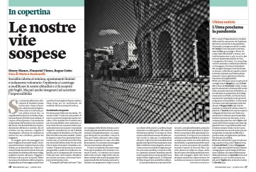 March 2020 - A selection of my pictures about Rome in the time of Coronavirus, has been published today as cover story on Internazionale.