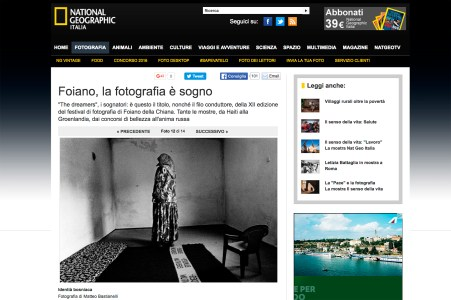 "November 2010 - ""The Bosnian Identity"" featured on National Geographic Italia"