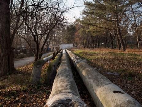 Gas pipelines on the outskirts of the capital. Chisinau, Moldova 2014. © Matteo Bastianelli