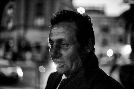 Ettore Boccuni, 48 yrs old fisherman from Taranto, in the center of the town. He is an alcoholic and homeless. Taranto, Italy 2013. © Matteo Bastianelli