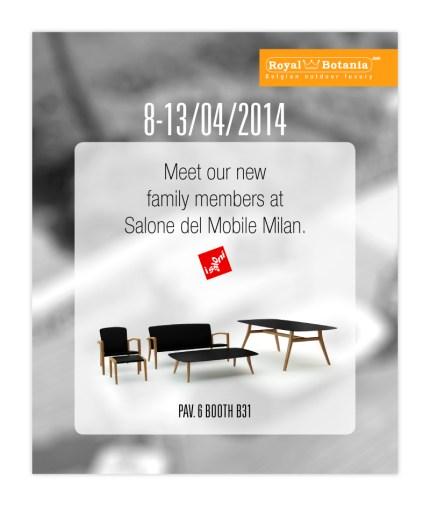 Invito Royal Botania al Salone del Mobile di Milano 2014
