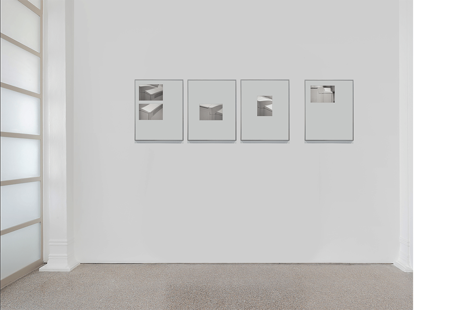"Exhibition view, ""The Space in-Between Us"", Villa Vertua Masolo, Nova Milanese, (2014)."