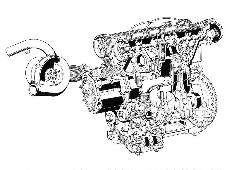 Meccanica della Lancia Delta S4 (1985)