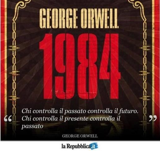 """Frase del Partito Unico di """"1984"""" di George Orwell"""