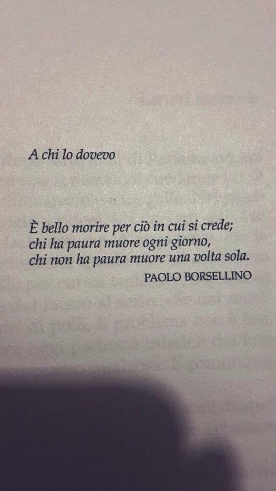 Paolo Borsellino: a chi lo dovevo