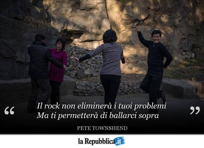 Frase di Pete Towshend sul rock
