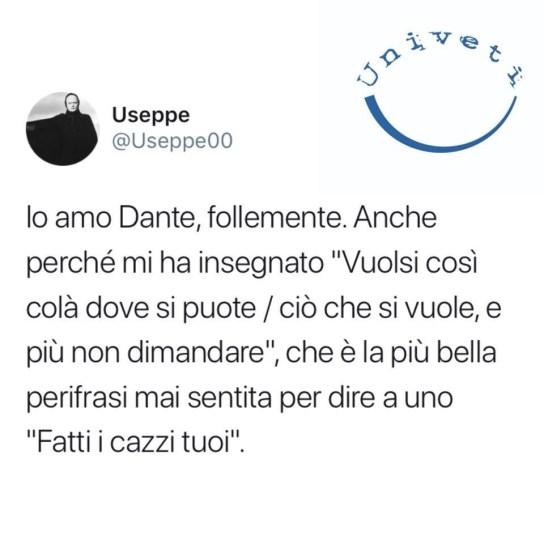 Io amo Dante, follemente