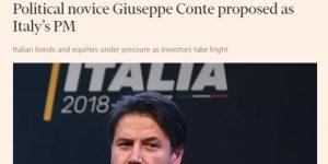 Foto di Giuseppe Conte apparsa sul Financial Times