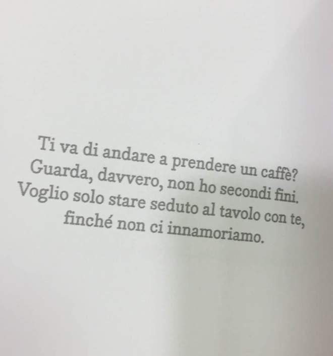Frase sul caffè condivisa su Twitter