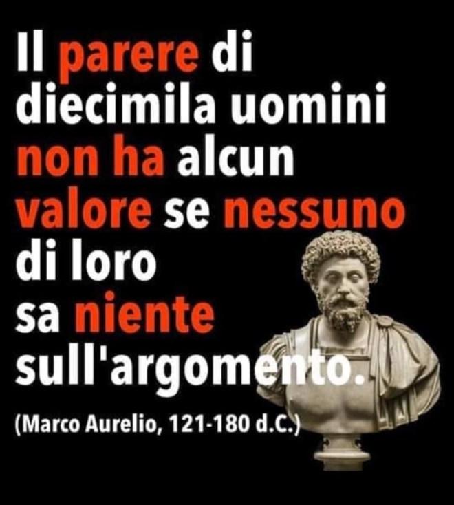 Frase sul parere di molti uomini di Marco Aurelio