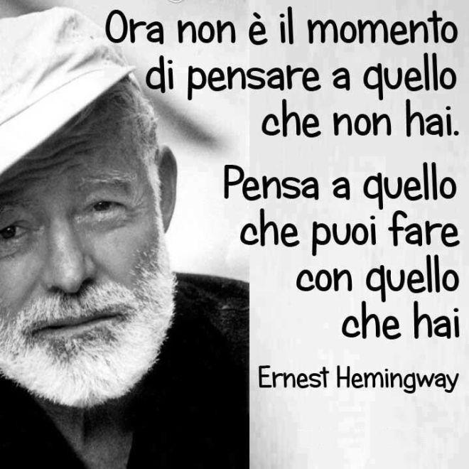 Hemingway ci aiuta a fare