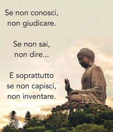 Puoi giudicare ciò che conosci...secondo il Buddha