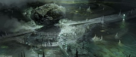 Prometheus concept art di David Levy