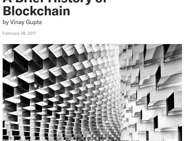A Brief History of Blockchain
