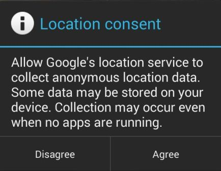 Location Consent 2 in Android KitKat