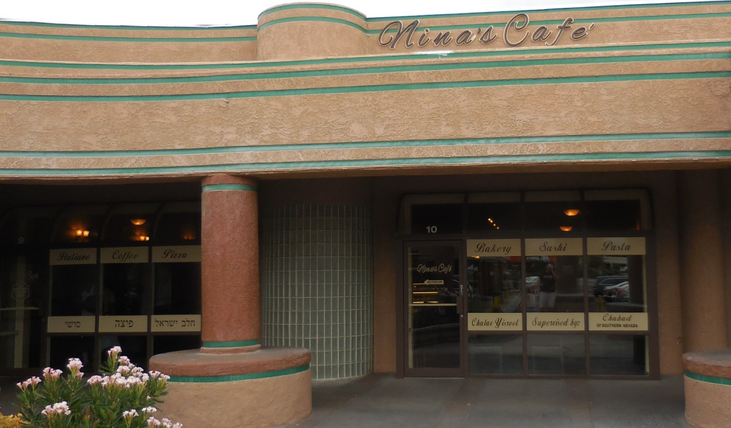 Outside of Ninas Cafe
