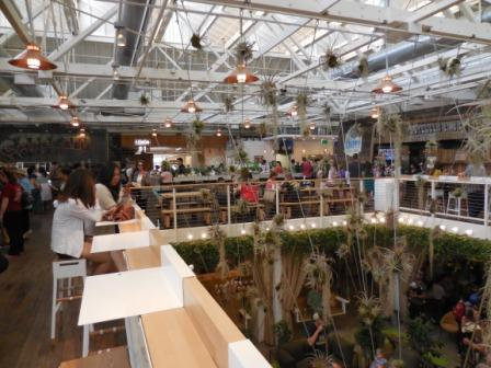 The Packing House has two floors and exposed beams