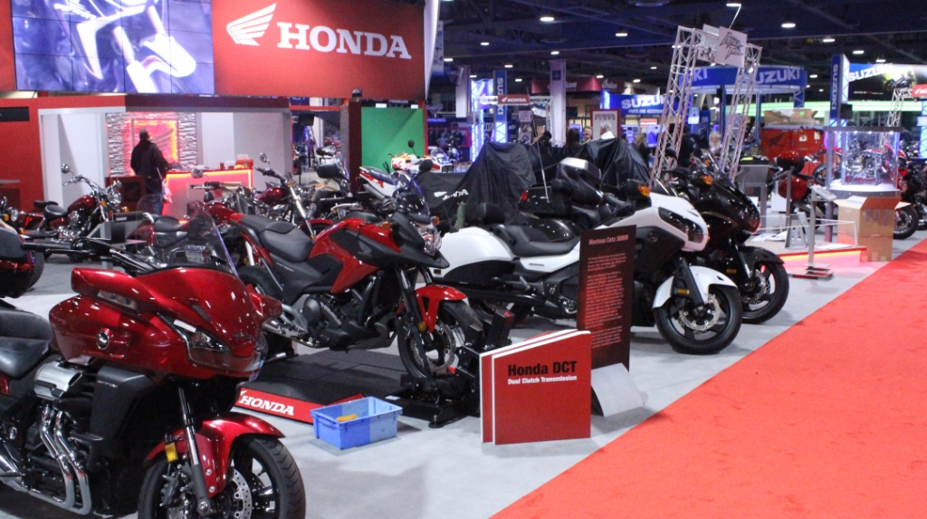 Honda Motorcycles Are One Of The Motorcycle Manufacturers At Show Photo By Benjamin Scheier