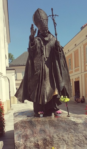Statue of Pope Saint John Paul II in Wadowice, Poland.