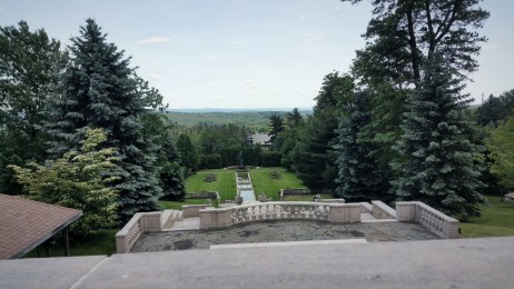 From the front of the Schwab Estate, or Mount Assisi Monastery, in Loretto, PA.