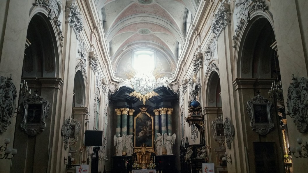 Inside the Church of Saint Michael the Archangel and Saint Stanislaus in Krakow.